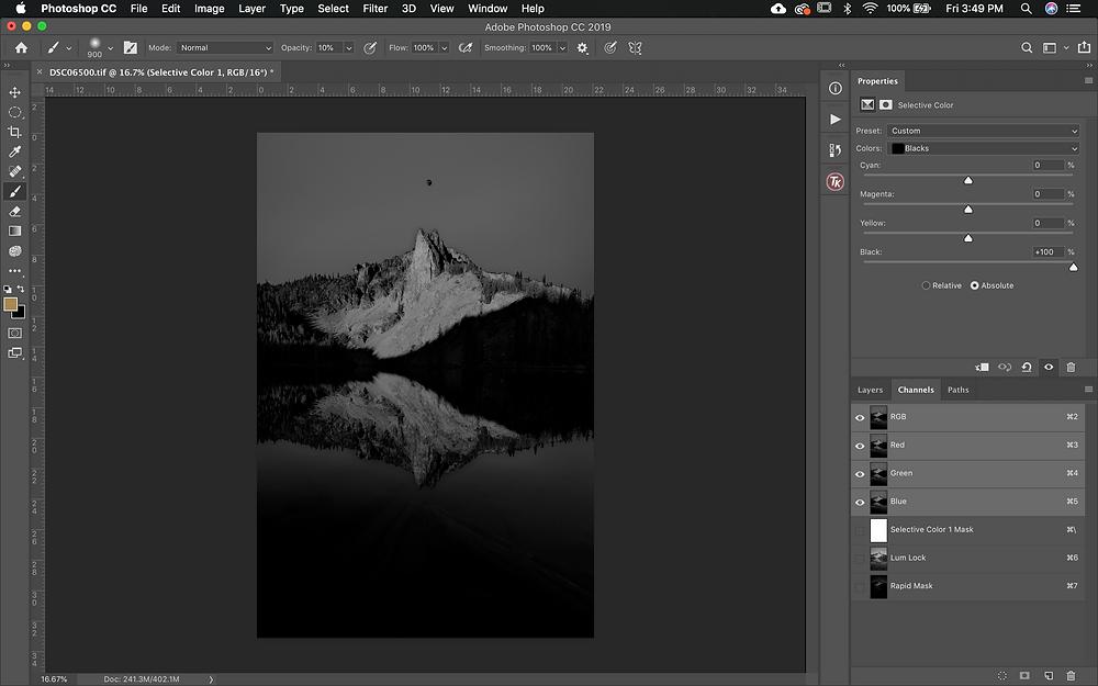 Photoshop layer mask tool