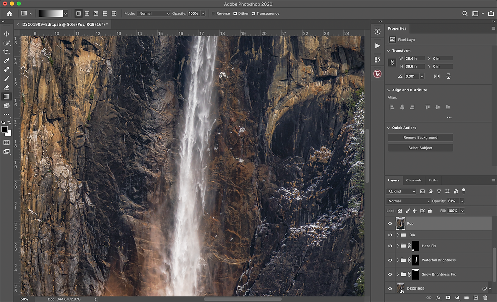 photoshop zooming in for depth