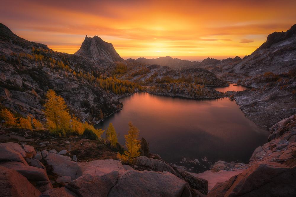 Sunset over The Enchantments of Washington.