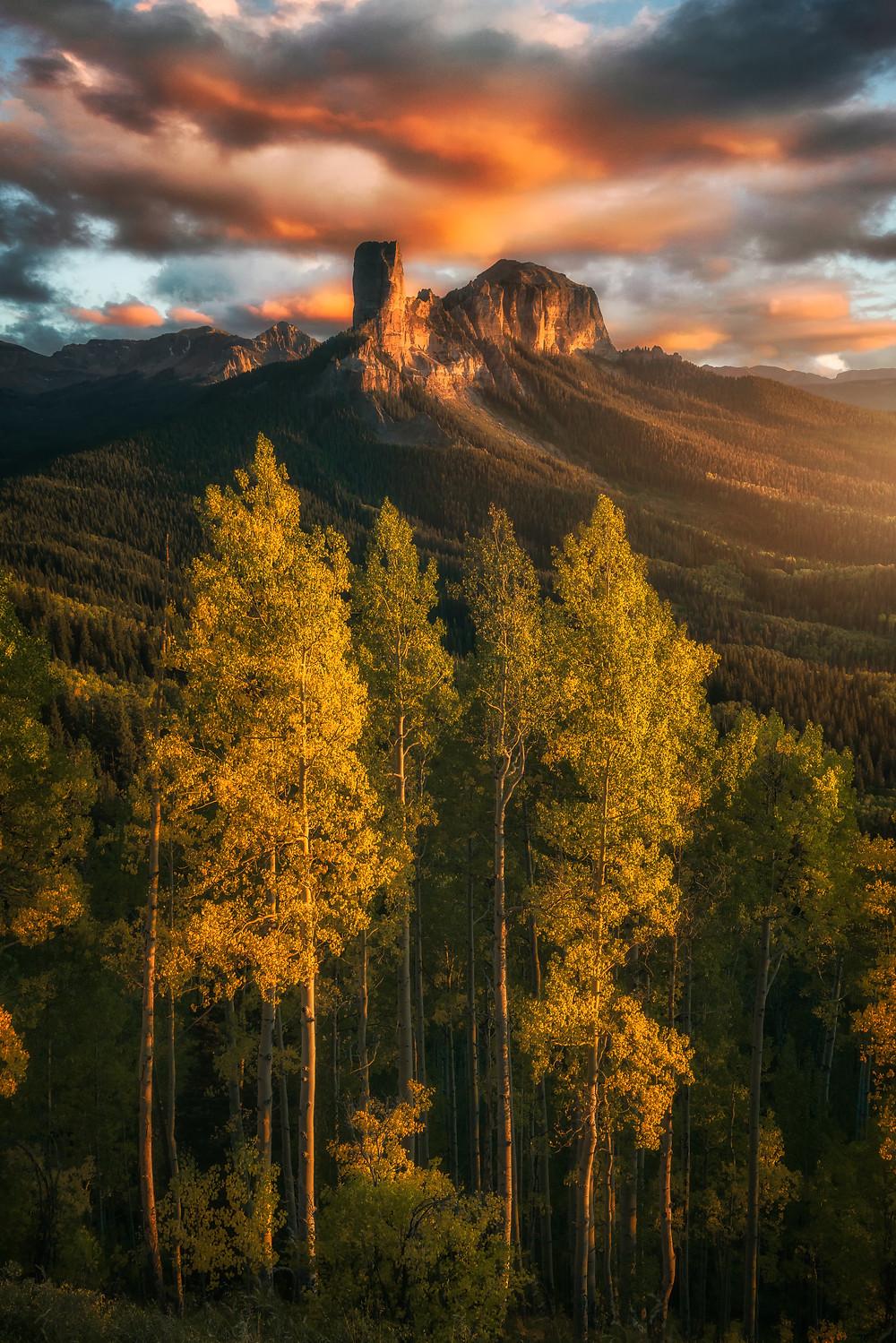 Colorado fall sunset, shot with a Samyang 35mm.
