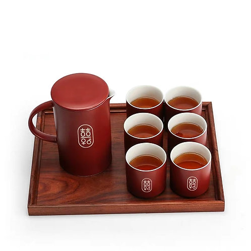 Chinese Tea Set (innovative shuang xi design)