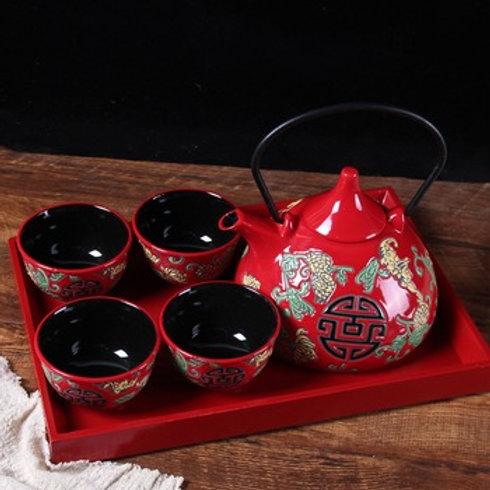 Chinese Tea Set (pomegranate design)