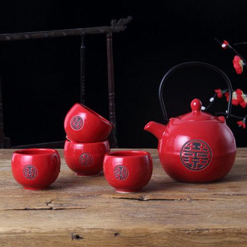 Chinese Tea Set (shuang xi design)
