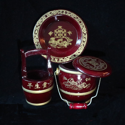 Miniature Descendant Pail Set - Traditional Design