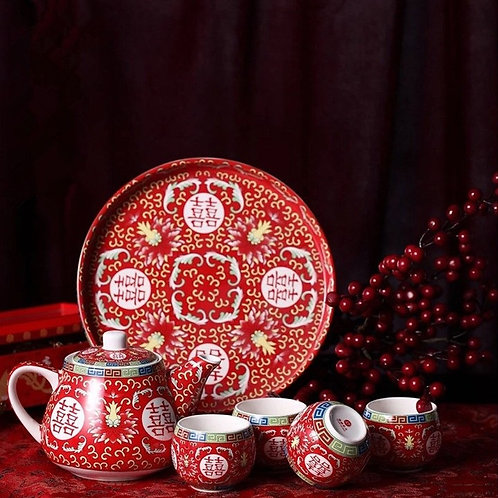 Chinese Tea Set (blossom design)