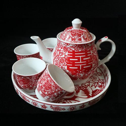 Chinese Tea Set (paper cut design)