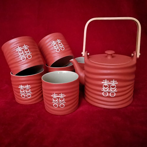 Chinese Tea Set (wave design)