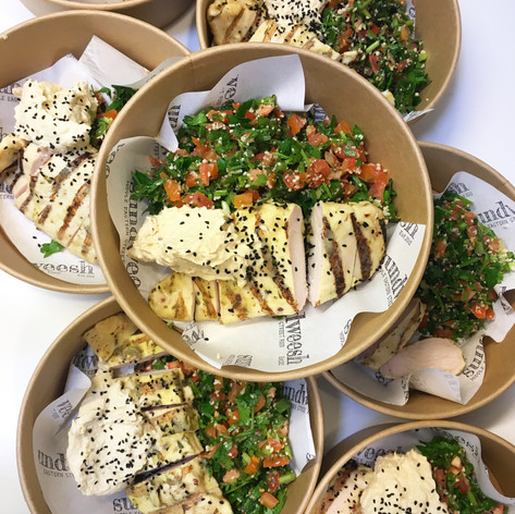 middle eastern chicken bowl