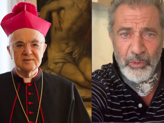 Mel Gibson Supports Canceled Priests & Archbishop Vigano