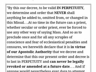 Fr. Hesse explains why Quo Primum is a forever binding document