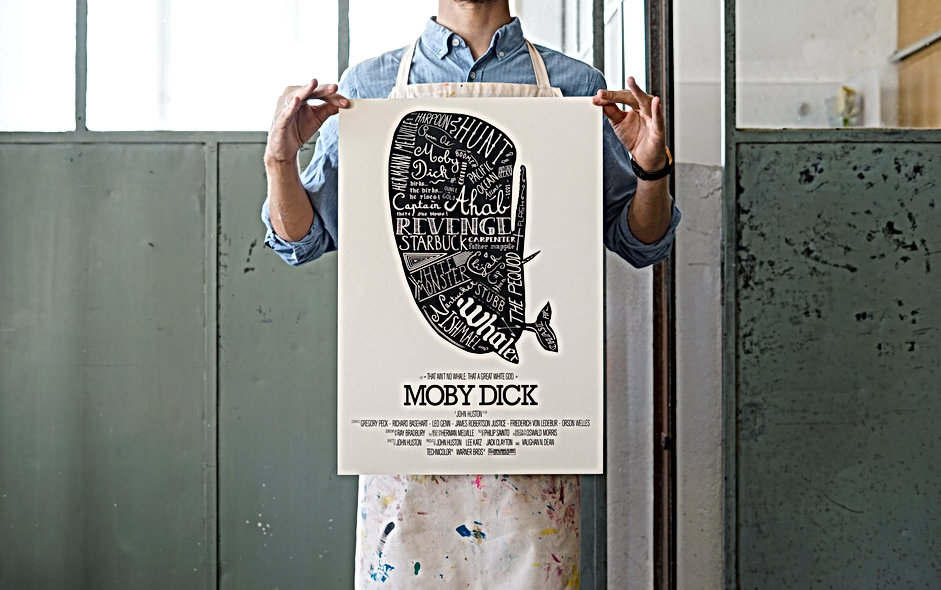 Basile Jeandin | Moby Dick Posters Series | Serigraphy
