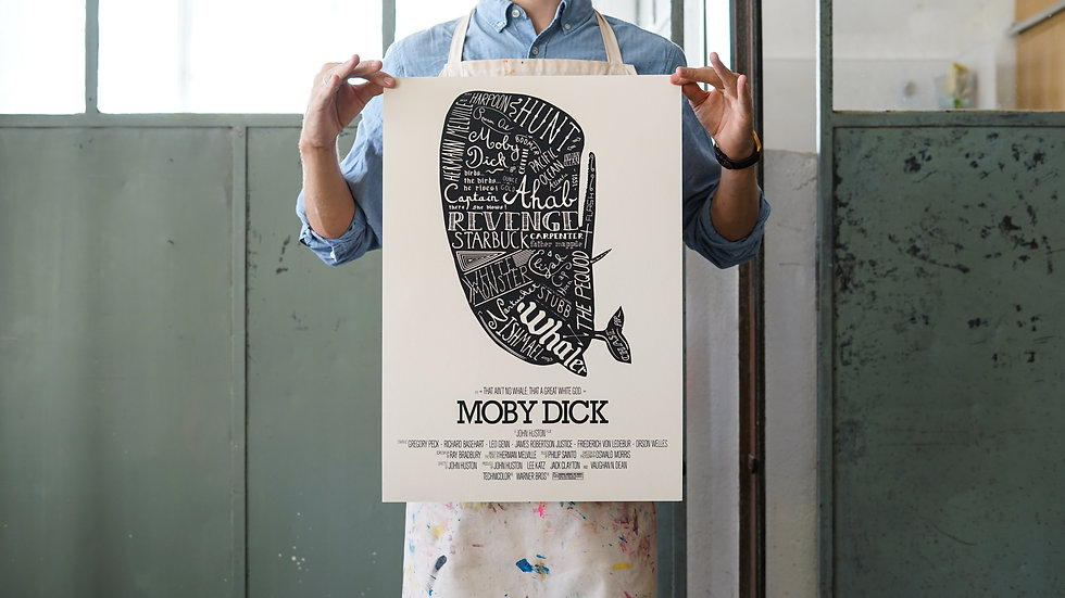 """""""Moby Dick"""" Poster I"""