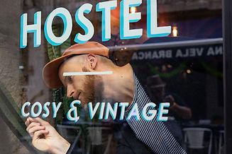 Good Night Hostel Basile Jeandin BJ | Fine Graphic Design Sign painting Typeface design Typography design