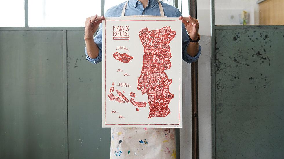 """Mapa de Portugal"" Poster"