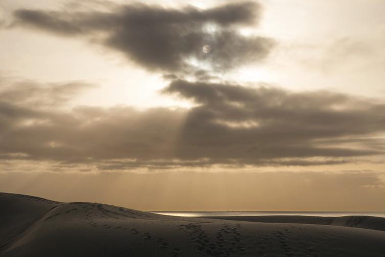Morgensonne in den Dünen von Maspalomas