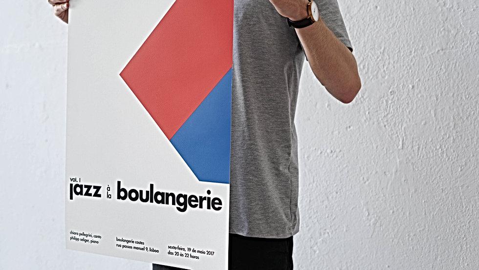Basile Jeandin jazz à la boulangerie vol.1 Poster serigraphy