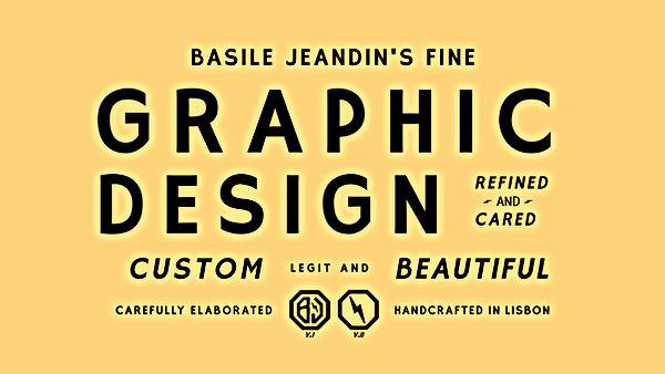 Basile Jeandin BJ |Fine Graphic Design Damn Type typeface specimen Typography design