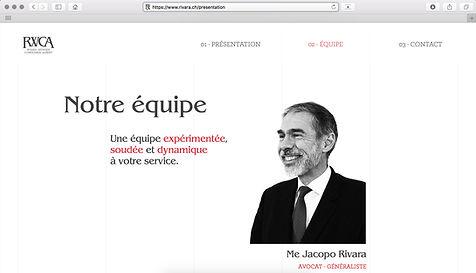 Basile Jeandin Fine Graphic Design RWCA Rivra Wenger Cordonier Aubert avocat lawyer geneva Genève identité visuelle branding logotype web design web development