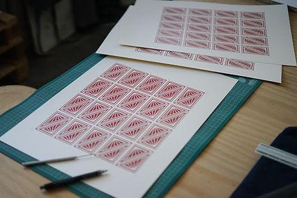 Basile Jeandin | Alfama Cellar Rebranding Screen Printed Business Card