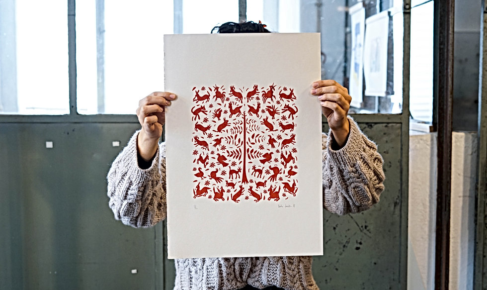 Basile Jeandin | Sofias's Otomis screen print illustration serigraphy