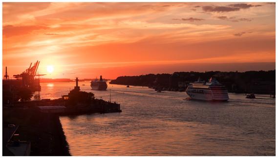 Die Elbe erreicht...