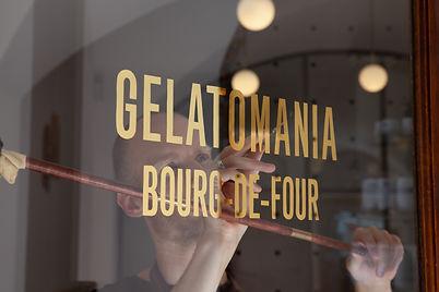 Basile Jeandin  Fine Graphic Design Gelatomania Genève Art Direction Sign Painting Photograph by Mathias Clauson