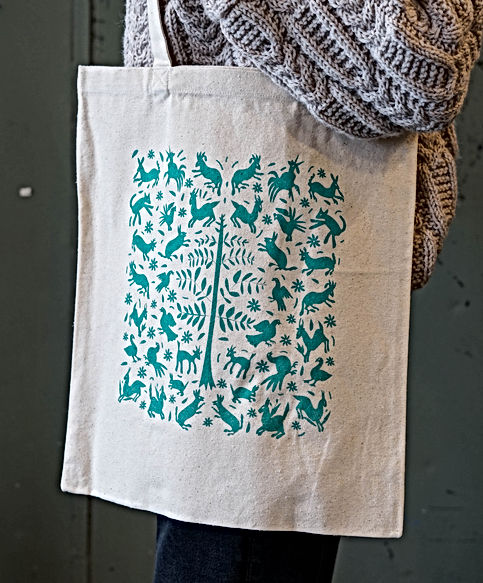 Basile Jeandin | Sofias's Otomis screen print bags bag illustration serigraphy