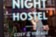 Good Night Hostel Basile Jeandin BJ | Fine Graphic Design Sign painting Typeface design Typography design
