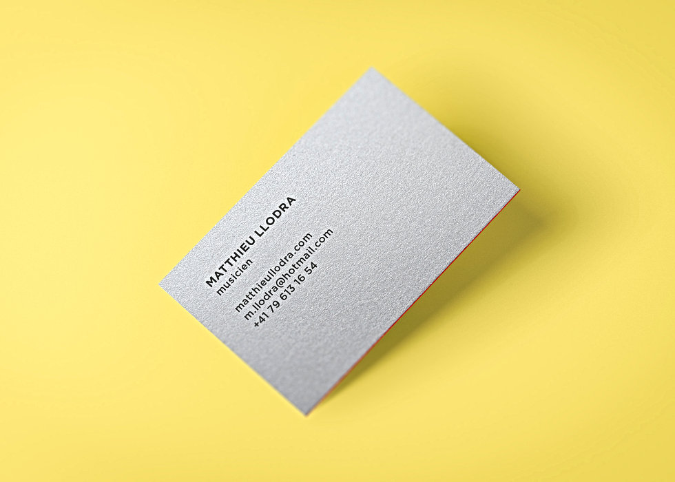 Basile Jeandin | Graphic design business card musician branding visual identity logo logotype