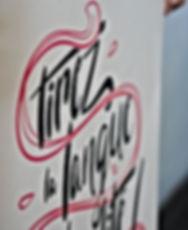 Basile Jeandin Fine Graphic Design screenprint cavalcade tirez la langue à la banalité poster sérigraphie animation lettering script