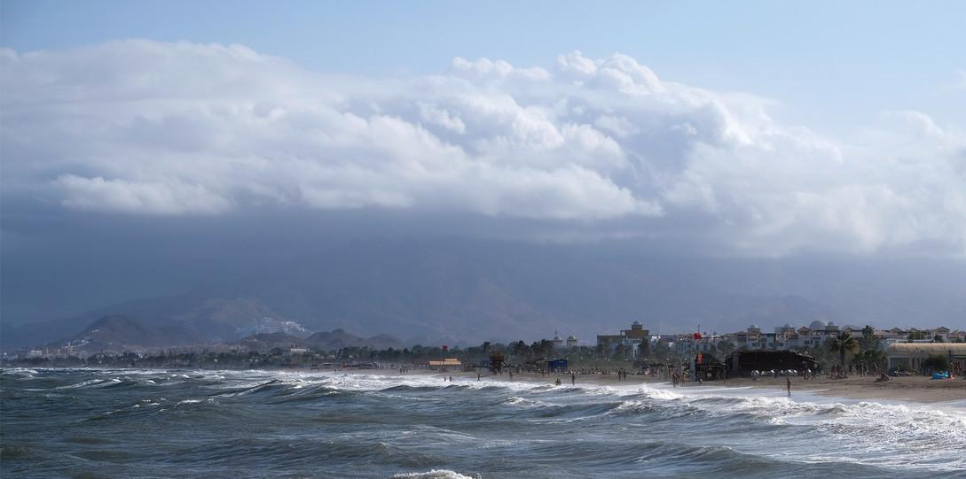 Mittelmeerküste bei Vera nach dem Unwetter