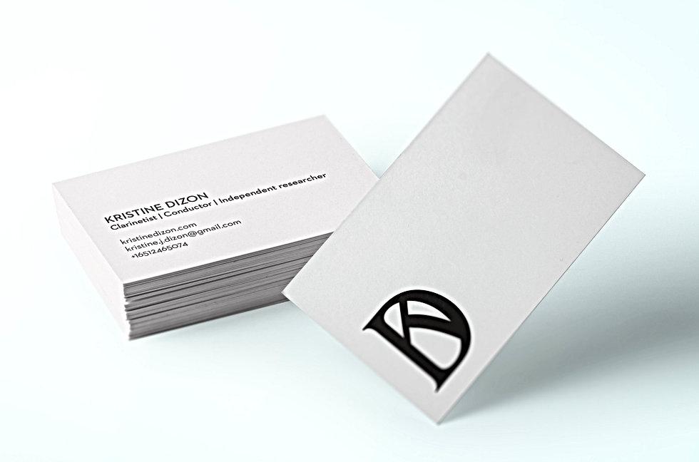 Basile Jeandin Kristine Dizon visual identity logotype logo business card