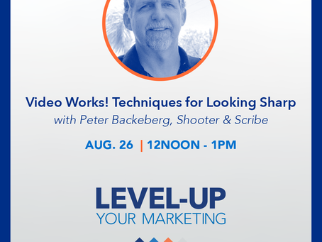Join us for Video Works! Techniques for Looking Sharp with videographer Peter Backeberg