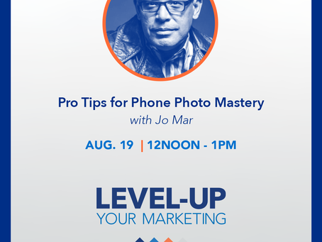 Join us for Pro Tips for Phone Photo Mastery, with Jo Mar Photography - a FREE webinar!