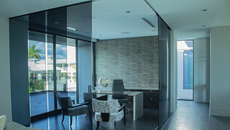 Glass office home