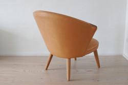 Lav stol i læder