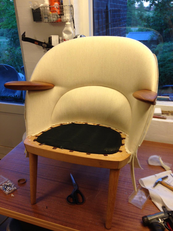 Lav stol med teak