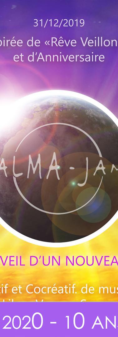 Flyers Alma Jam Anniversaire 10 - 10ans.