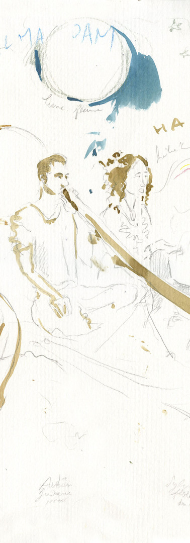 Peinture Anne Steinlein - Musiciens Alma