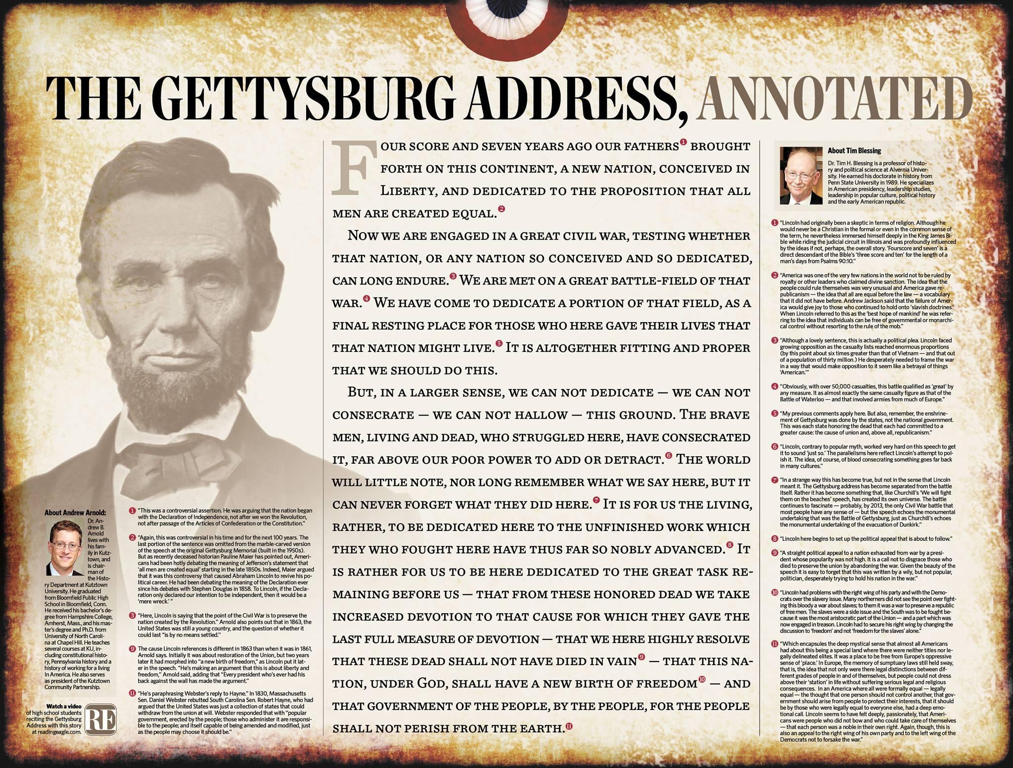 Annotated Gettysburg Address