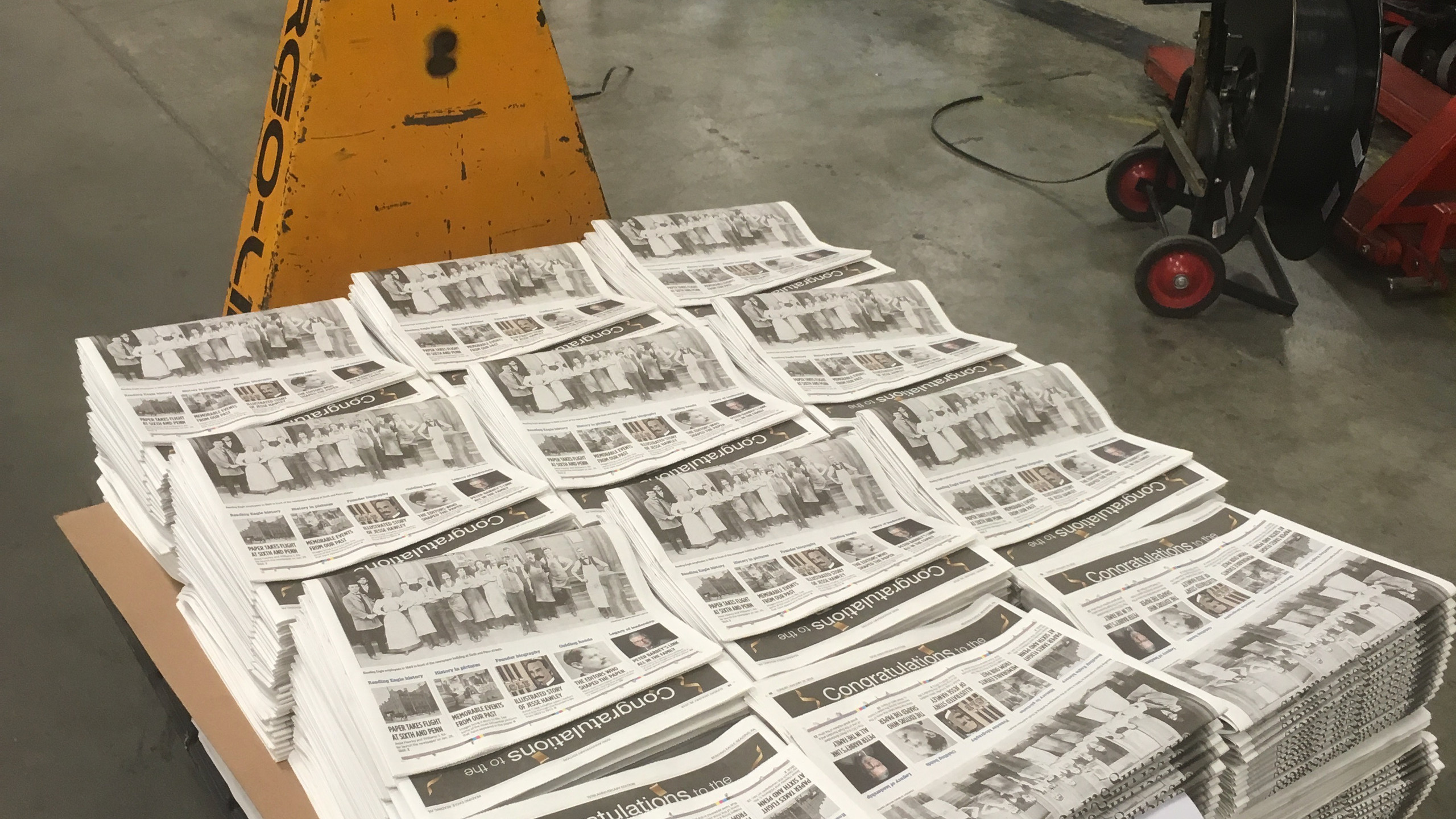 Preprinting the section
