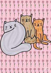 Three Curious Cats, Sara Ottavia Carolei