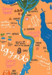 Egypt Map, Sara Ottavia Carolei
