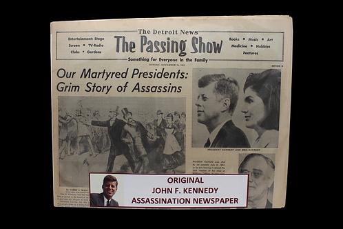 Original JFK Assassination Newspaper