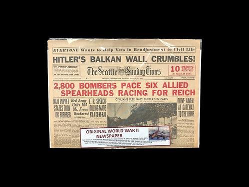 Original WW2 Newspaper