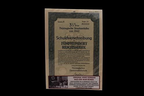 Original WW2 German Nazi War Bond