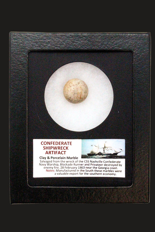 Confederate Shipwreck Clay & Porcelain Marble