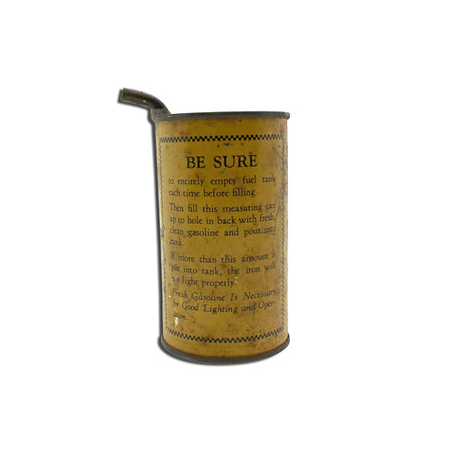 Vintage Gasoline Measuring Can