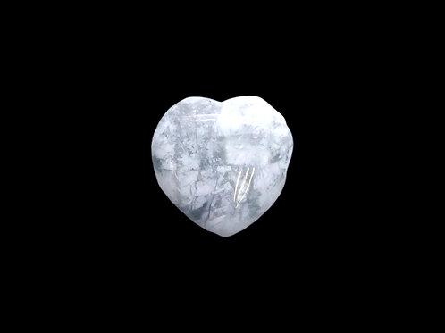 White Howlite Hearts
