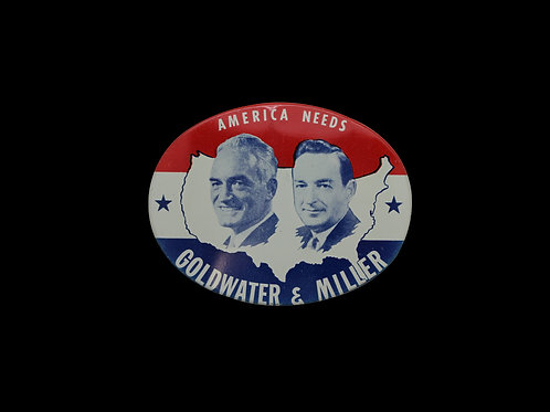 GOLDWATER & MILLER CAMPAIGN BUTTON